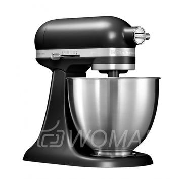 KitchenAid Миксер планетарный бытовой MINI 5KSM3311XEBM, дежа 3,3л, 3 насадки, 1 чаша, матовый черный