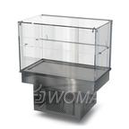 Холодильная витрина встраиваемая (стекло) 1000х450х600(1150)  Камик